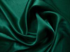 100 % Seide Crepe Satin - tannengrün, Top Qualität Meterware ca. 114 cm breit
