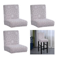 3x Coprisedili per sedie da pranzo con schienale basso Protezione per sgabelli