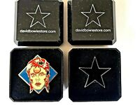 David Bowie from Ziggy to Blackstar, pair of tribute pins