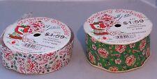 Vintage Strawberry Shortcake Christmas ribbon - 2 sizes - 2 designs