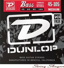 Dunlop Stainless Steel 4-string Bass strings 45-105, DBS45105