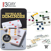 Professional Mexican Train Dominoes Fun Game Double 6 Color Dot Domino Set Tiles