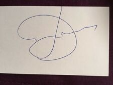 Daniel Lanois Musician Producer Autographed Signed Index Card IP