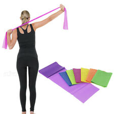1.2m RESISTANCE BAND BELT YOGA PILATES HOME GYM FITNESS EXERCISE WORKOUT STRETCH