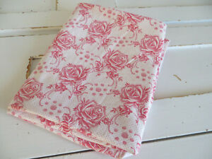 "Single Pillowcase Euro Sham Farmhouse Red Roses   29 "" by  27 ""  US-$12.90"