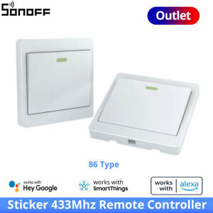 SONOFF Outlets Sticker 433Mhz Remote Controller Module 86 Type Wall Panel Switch