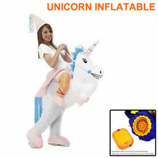 UNICORN Fancy Dress Inflatable Suit Fan Operated Costume Party AU Stock