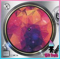 "Geometric Galaxy #12 Turntable Slipmat 12"" LP Record Player, DJ Space Orbit"