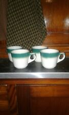 Vtg Buffalo China Green Spray Mist Air Brush Diner/Restaurant Ware Coffee Cups