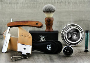 Vintage Style Men's Shaving Set With Cut Throat Razor (Old Barber Style)
