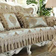 Retro Chenille Sofa Couch Cover 4 Seater Slipcover Jacquard Lace Armchair Covers