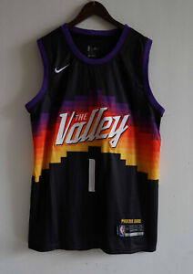 New Phoenix Suns #1 Devin Booker Black City Edition Basketball Jersey