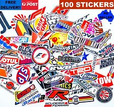 100pcs STICKER BOMB JDM Turbo DRIFT Stickers Japanese Racing Logo