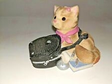 Enesco Calico Kittens My Purr-suit Of Happiness Led To You Figurine Cat Kitty