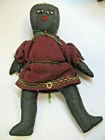 Vintage Pair 1930 Americana rag 2  Dolls 7 Inches High Nice Handmade