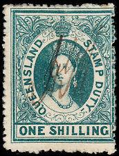Queensland Scott AR3 Postal Fiscal (1866-74) Used F Perf. 13 Unwkd., CV $140.00