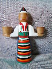 Vintage Swedish Rattvik Costume sml Wood Candle Doll Candleholder Dalarna Sweden