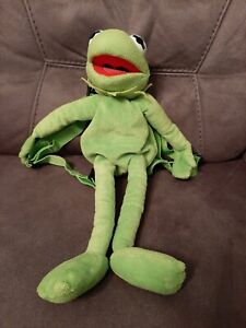 "Disney Muppets Kermit The Frog Plush Backpack/Rucksack Bag Approx 17"""