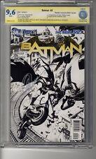 Batman (2011) # 2 1:200 Sketch RI CBCS 9.6  WHITE SS3X Capullo, Snyder & Glapion