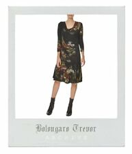 Gorgeous Romantic Bolongaro Trevor Dandy Jersey Dress Size L Large 14 - RRP £165