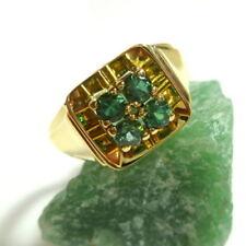 Anelli di lusso con gemme naturale in oro giallo misura anello 19