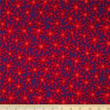 Kaffe Fassett Brandon Mably Daisy Chain purple quilting fabric