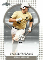 """JACOB HERBERT 2018 LEAF PERFECT GAME """"Red"""" PARALLEL ROOKIE CARD! LTD 25!"""