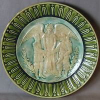 "BEAUTIFUL FRENCH MAJOLICA  PLATE ""RUSSIAN & FRENCH"" ""FRANCE & RUSSIE"""