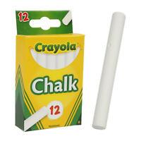 Brand New Crayola White Chalk 1 box with 12 sticks