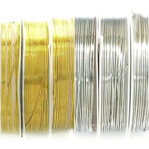 Craft wire Brass Copper Silver 0.1mm-1.0mm JCE13