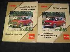 1988 GMC Safari Van Truck Shop Manual 2pcs