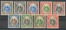 Malasia-Kedah. MH *Yv 53/61. 1937. Serie completa. MAGNIFICA Y RARA. (SG60/68 2