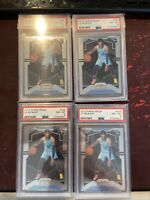 2019-20 Panini Prizm #249 Base Ja Morant Grizzlies RC Rookie PSA 8 Lot Of 4