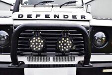 Black A bar & 2x LED 51w Spotlights for Land Rover Defender 90 110 (non air con)