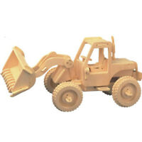 DIY Wooden Puzzle Wooden 3D Stereoscopic Assembling Simulation Model Forklift