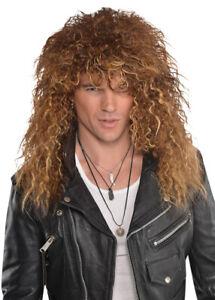Mens 80s Bon Jovi Style Glam Rock Wig