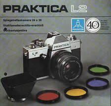 DRESDEN, Werbung 1975, Spiegelreflexkamera PRAKTICA L2