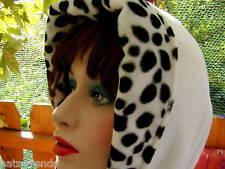 Damenmütze Schalmütze Weiß/ Dalmatinerlook Webpelz  elegant warm Wintermütze