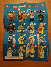 LEGO 8684 MINIFIGURE Series 2 INSTRUCTION CHECKLIST Mini-Insert Poster Only