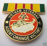 VIETNAM VETERANS AGENT ORANGE VICTIMS Military Veteran Hat Pin P14819 EE