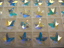 6 swarovski crystal vintage star pendants(top drilled)20mm crystal AB #6715