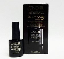 CND Creative Nail Shellac Xpress5 Top Coat .5oz/15ml ~Special Price ~