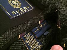 NEW Ralph Lauren Rugby Tweed Charcoal Blazer Small 38R Blazer Jacket Coat Hrngbn