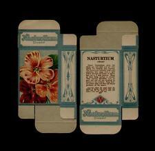 1910's ANTIQUE NASTURTIUM DWARF SEED BOX - GREAT ORNATE L@@K!!!
