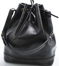 Louis Vuitton EPI NOE GRAND Bag Tasche elegant Zeitlos Schwarz Black Noir USED K