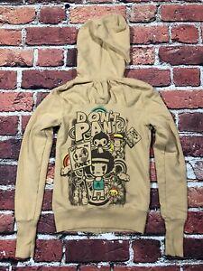 Tokidoki TKDK beige full Zip Hoodie Sweatshirt sweater womens small USA made