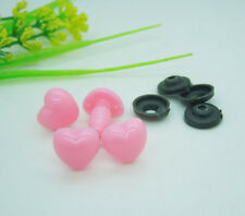 100pc Pink Plastic Safety Nose Heart For Doll Animal Stuffed Toys Wholesale E151