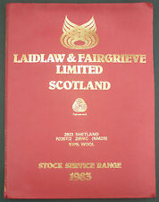 CATALOGUE D'ECHANTILLONS DE LAINE LAIDLAW & FAIRGRIEVE SCOTLAND WOOL SAMPLE