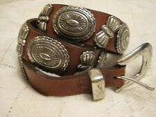 "Vtg Billy Concho Belt Leather Western 39"" Unisex"