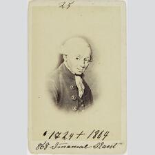 Immanuel Kant. Philosoph der deutschen Aufklärung. CDV um 1862.
